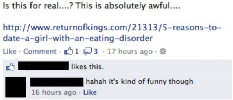 Dating girls with eating disorders